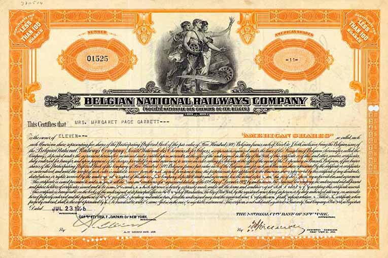 Belgian National Railways Co. (Soc. Nationale des Chemins de Fer Belges)