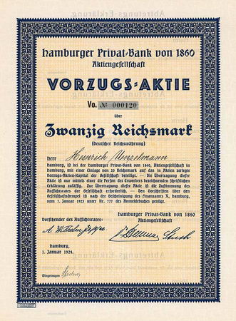 Hamburger Privat-Bank von 1860 AG