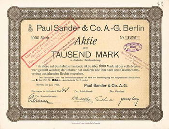 Paul Sander & Co. AG