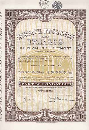 Cie. Industrielle des Tabacs Industrial Tobacco Co. S.A.