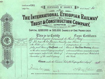 International Ethiopian Railway Trust & Construction Co.