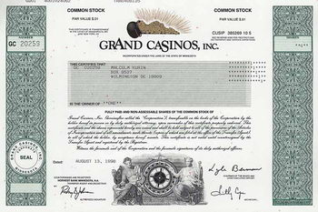 Grand Casinos, Inc.
