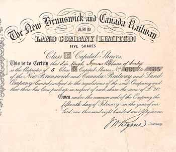 New Brunswick and Canada Railway and Land Company Ltd.