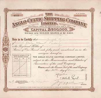 Anglo-Celtic Shipping Co.