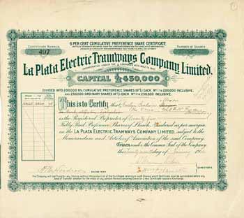 La Plata Electric Tramways Co., Ltd.