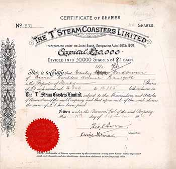 """T"" Steamer Coasters Ltd."