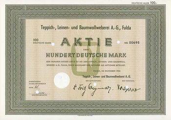 Teppich-, Leinen,- und Baumwollweberei AG