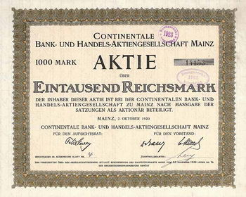 Continentale Bank- und Handels-AG