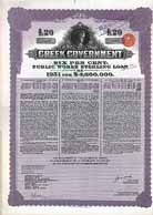 Greek Government - 6 % Public Works Sterling Loan of 1931