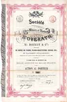 Societe des Mines et Usines d'Overath V. Bailly & Cie.
